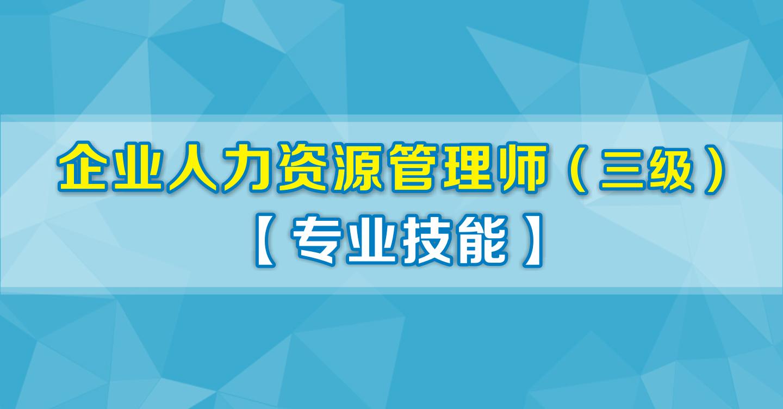企业人力资源管理师三级(专业技能)