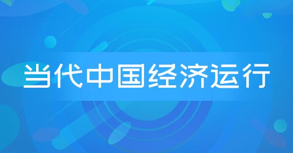 27332 当代中国经济运行