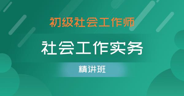 初级社会工作师-社会工作实务(精讲班)