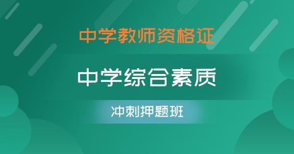 中学教师资格证-中学综合素质(冲刺押题班)