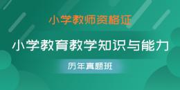 小学教师资格证-小学教育教学知识与能力(历年真题班)