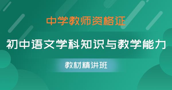 初中语文学科知识与教学能力