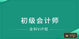 初级会计师全科VIP班