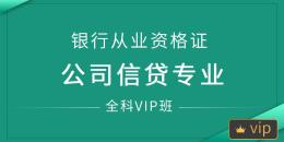 银行从业资格证(公司信贷)全科VIP班