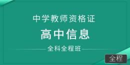 中学教师资格证-高中信息(全科全程班)