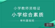 小学教师资格证-小学综合素质 (单科基础班)