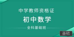 中学教师资格证-初中数学(全科基础班)
