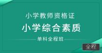 小学教师资格证-小学综合素质(单科全程班)