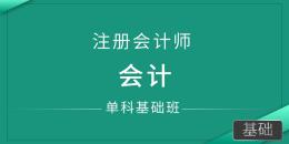 注册会计师-会计(单科基础班)