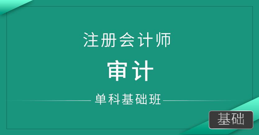 注册会计师-审计(单科基础班)
