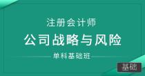 注册会计师-公司战略与风险(单科基础班)