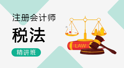 注册会计师-税法(精讲班)