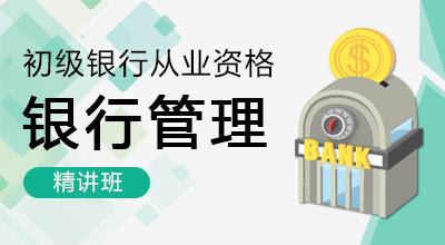 银行从业-银行管理(材料精讲班)