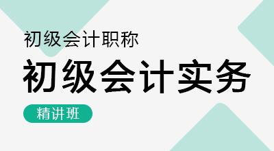 初级会计师-初级会计实务(精讲班)