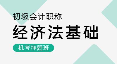 初级会计师-经济法基础(机考押题班)