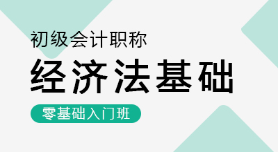初级会计师-经济法基础(零基础入门班)