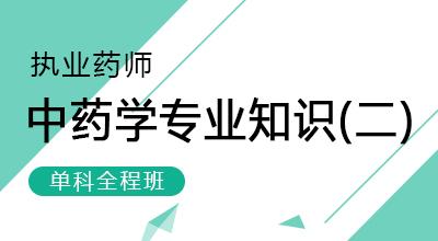 执业药师-中药学专业知识(二)(单科全程班)
