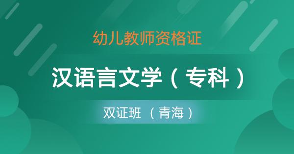 双证班 幼儿+汉语言(专)青海