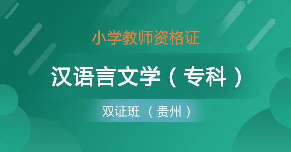 双证班 小学+汉语言(专)贵州