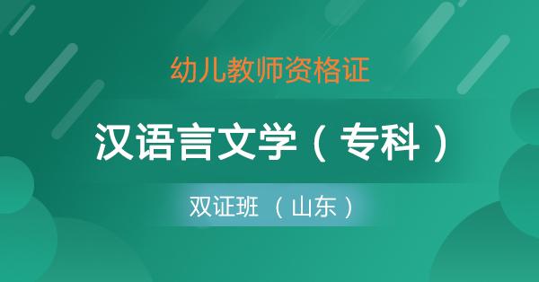 双证班 幼儿+汉语言(专)山东