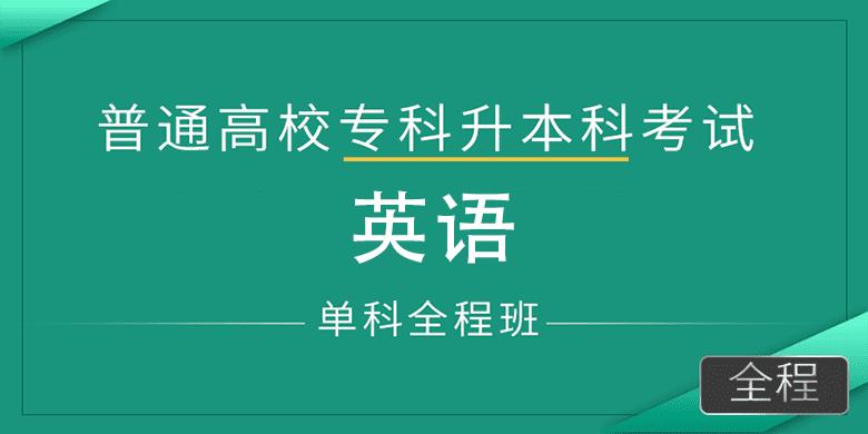 专插本英语(单科全程班)